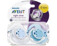 Philips Avent Smoczek Ortodontyczny Na Noc 0-6m+ 2szt Niebieski  - 341125 - zdjęcie 2