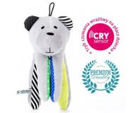 Zabawka dla małego dziecka Whisbear Szumiący Miś CRYsensor cytryna