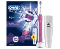 Oral-B Pro 750 Pink + końcówki EB20-4 - 527128 - zdjęcie 3