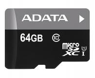 ADATA 64GB microSDXC UHS-I Premier + adapter  (AUSDX64GUICL10-RA1)