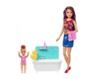 Barbie Skipper Zestaw Opiekunka z wanną (FHY97 FXH05)