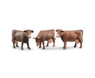 Bruder Figurka krowy brązowej w trzech pozach (02308)