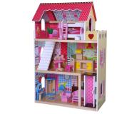 ECOTOYS Domek dla lalek Rezydencja Malinowa z windą (4120)