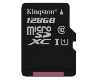 Kingston 128GB microSDXC Class10 zapis 10MB/s odczyt 45MB/s (SDC10G2/128GB)