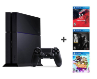 Konsola Sony Playstation 4 + DriveClub + The Last of Us + LBP 3 PS4 500GB DriveClub TLOU Little Big Planet 3