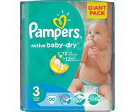 Pampers Active Baby Dry 3 Midi 4-9kg 90szt (4015400736226 GP)