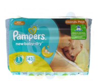 Pampers New Baby Dry 1 Newborn 2-5kg 43szt (4015400264491 VP)