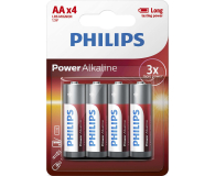 Philips Power Alkaline AA 4szt (LR6P4B/10)