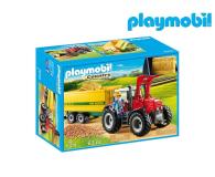 PLAYMOBIL Duży traktor z przyczepą (70131)