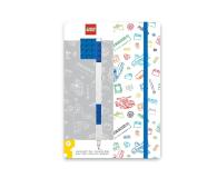 POLTOP LEGO Biały notatnik z niebieskimi dodatkami + długopis ( 51538)