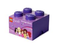 POLTOP LEGO Friends Pojemnik Brick 4 fioletowy (40031746)