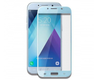 Samsung Szkło Hartowane 3D do Galaxy A3 2017 Niebieski (GP-A320QCEEAAB)